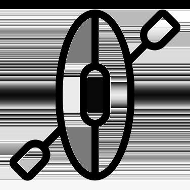 Kajakk ovenfra logo